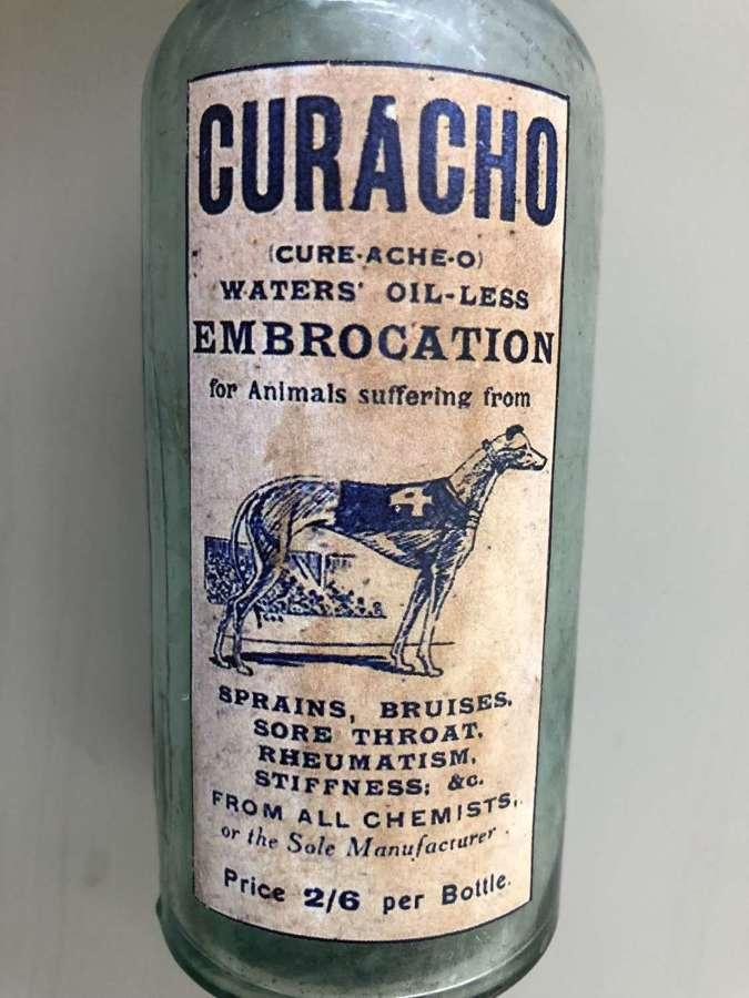 CURACHO animal medicine bottle