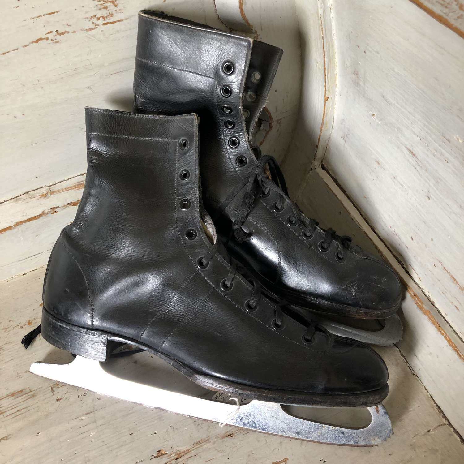 Vintage Ice Skating Boots