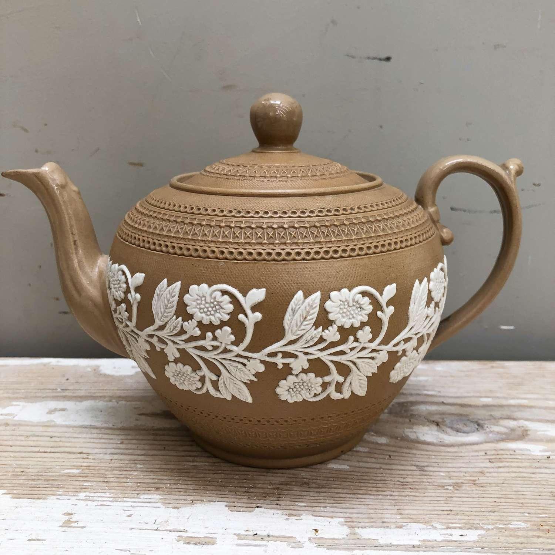 Victorian Copeland Jasperware Tea Pot