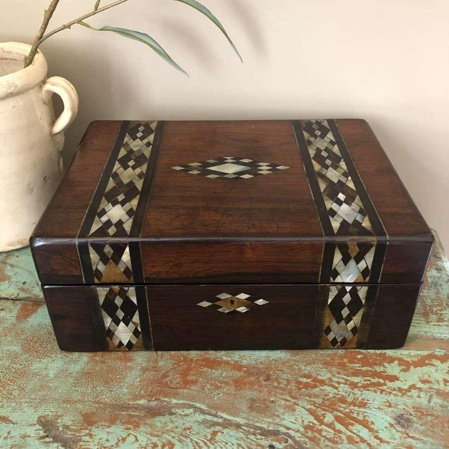 Victorian Inlaid Mahogany Box