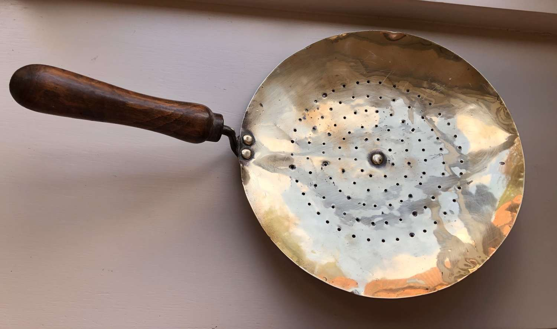Antique Brass Dairy Fleeter, Cream Skimmer
